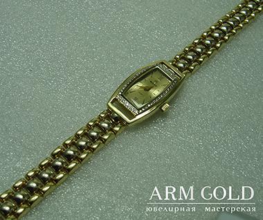 золотые часы ARM GOLD