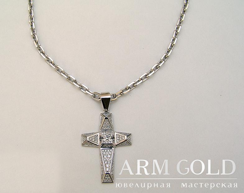 мужские крестики из золота